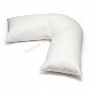 Adamlinens Duck Feather & Down - V Shaped Pillow Only Washable, Anti Dust Mite Nursing Pregnancy and Back Support Pillow