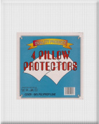 4 PILLOW PROTECTORS - Non Allergenic - 100% Polypropylene - Soft