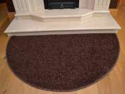 Plain Half Moon Semi Circular Silver Brown Red Black Grey Purple Green Shaggy Pile Rug Different Sizes Available