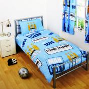 Manchester City Official Single Duvet Set - Multi-Colour