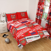 Arsenal FC Patch Double Duvet Cover and Pillowcase Set