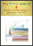 Cot Bed White Jersey Fitted Sheets Baby Nursery Bedding Soft Touch Pack of 2 100% Cotton