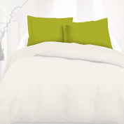 Green (Lime) - SoulBedroom 100% Cotton Pillow Cases / Continental - 65 x 65 cm