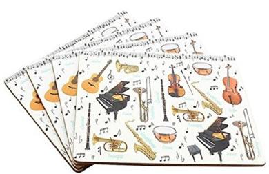 Set of 4 Placemats - Making Music Design
