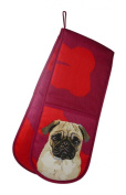 Leslie Gerry Pug Double Oven Glove