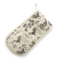 Rushbrookes Vintage Roosters Chicken Double Oven Glove Mitt - Brown- 16150193
