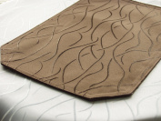 2 x Damask Place Mats with Stripes 30 x 45 CM *from First-Tex Dark Brown