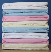 Dudu N Girlie Travel Cot Cotton Jersey Fitted Sheets, 65 x 95 cm (Pack of 2)