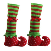 1 Pair of Christmas Furniture Leg Socks Covers Floor Protectors