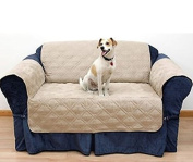 2 Seater Quilted Sofa Protector Throw Furniture Protector Cover Water Resistant