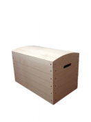 Extra Large XL Pirate Chest Unpainted Wooden Chest Box Toy Trunk Storage Unfinished Toy Box 56.5x 33x 36.5cm