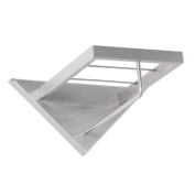 Bony Design Wall coat rack stainless steel with solid hat shelf (1023) - 28 × 38 × 25 cm