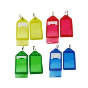 WINOMO 60pcs Plastic Key Fobs Luggage ID Tags Labels with Key Rings