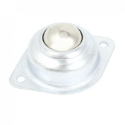 Flange Transfer Unit Ball Bearing 2.2cm Silver Tone