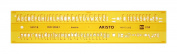 Aristo AH5301/5 Lettering Stencil ISO 3098-1
