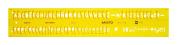 Aristo AH5301/7 Lettering Stencil ISO 3098-1