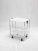 Tomasucci Kit Collapsible Trolley, Metal, White
