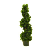 """Artificial Boxwood Tree FRITZ, spiral-shaped, 450 leaves, 24"""" / 60 cm, outdoor - Plastic topiary / Artificial spiral tree - artplants"""
