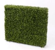 "Decorative Boxwood Hedge TOM, 2920 leaves, metal frame, 3ft x 31"" / 100 x 80 cm, UV-resistant - Artificial Buxus / Plastic Boxwood - artplants"