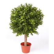 "Artificial Boxwood Ball TOM on trunk, 252 leaves, 14"" / 35 cm, Ø 10"" / 25 cm - Plastic Buxus Tree / Artificial Box Ball - artplants"