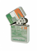 Ireland Montage Tri Colur Foil Style Windproof Lighter
