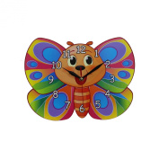 Home Decoration Children's Bedroom or Nursery MDF Butterfly Shaped Wall Clock