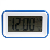 Tonsee New Electronic Digital Clock LED Light Control Alarm Thermometer ON Blue