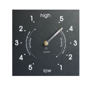 Eco Black Recycled Tide Wall Clock