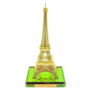 Souvenirs of France - Luxury Eiffel Tower Statue on Base - Colour : Gold - 14cm