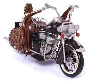 Model Motorcycle - Indian black, leather - Retro Tin Model