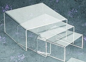 Small Low Profile Riser 3pcs Set in Clear Acrylic