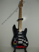 """COLDPLAY """"X AND Y"""" STRATOCASTER Miniature Guitar"""