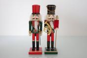Set of 2 Nutcracker red & Green 25cm - New for 2015
