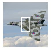 Avro Vulcan Aircraft Vinyl Light Switch Cover Sticker