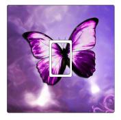 Purple Butterfly Vinyl Light Switch Cover Sticker