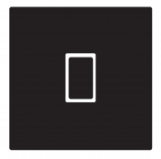 Black Gloss Vinyl Light Switch Sticker