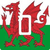 Welsh Wales Flag Single Light Switch Sticker Skin Wrap by Ellis Graphix