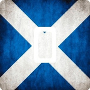 Antique Scotland Scotish Flag Vinyl Single Light Switch Sticker Skin Wrap by Ellis Graphix