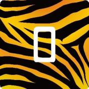Tiger Vinyl Single Light Switch Sticker Skin Wrap by Ellis Graphix