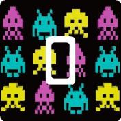 Space Invaders Retro Gaming Vinyl Single Light Switch Sticker Skin Wrap by Ellis Graphix
