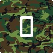 Green Camouflage Camo Vinyl Single Light Switch Sticker Skin Wrap by Ellis Graphix