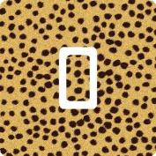 Cheetah Vinyl Single Light Switch Sticker Skin Wrap by Ellis Graphix