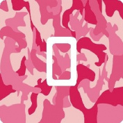 Pink Camo Vinyl Single Light Switch Sticker Skin Wrap by Ellis Graphix