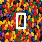 Jelly Bean Sweets Candy Vinyl Single Light Switch Sticker Skin Wrap by Ellis Graphix