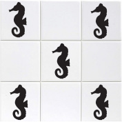 Seahorse Tile Stickers - Pack of 18 Sea Horse Decals