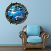 Full Colour Titanic Porthole Ship Dolphin Sea Under Water Wall Art Sticker Decal Mural Transfer Print 6