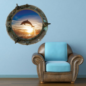 Full Colour Titanic Porthole Ship Dolphin Sea Under Water Wall Art Sticker Decal Mural Transfer Print 5