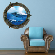 Full Colour Titanic Porthole Ship Dolphin Sea Under Water Wall Art Sticker Decal Mural Transfer Print 7