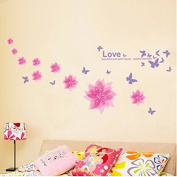 chendongdong Hot Removable DIY Fit Bedroom Happiness bloom Butterfly Home Wall Stickers Decor