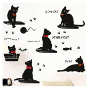 chendongdong New Lovely Cats Wall Stickers Removable Vinyl Decal Home Art Decoration DIY